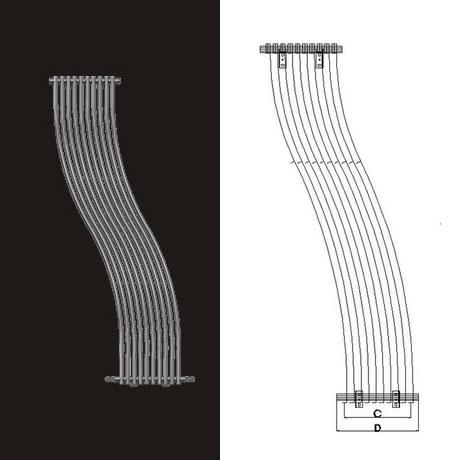 İmsan R-Fold Krom Çelik Dizayn Radyatör