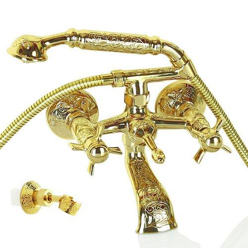 İnorava Gazelle Elişi İşlemeli Pirinç Duş Bataryası Seti