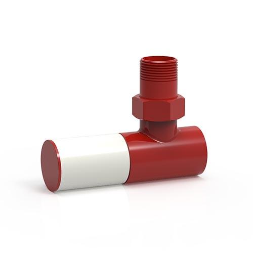 İmsan Trafik Kırmızı - Sinyal Beyaz Radyatör Vanası