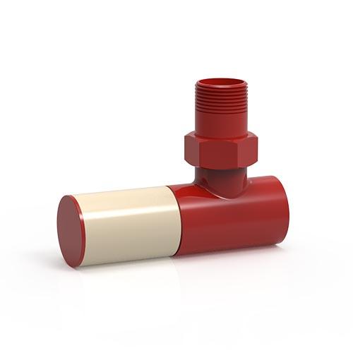 İmsan Trafik Kırmızı - İnci Beyazı Radyatör Vanası