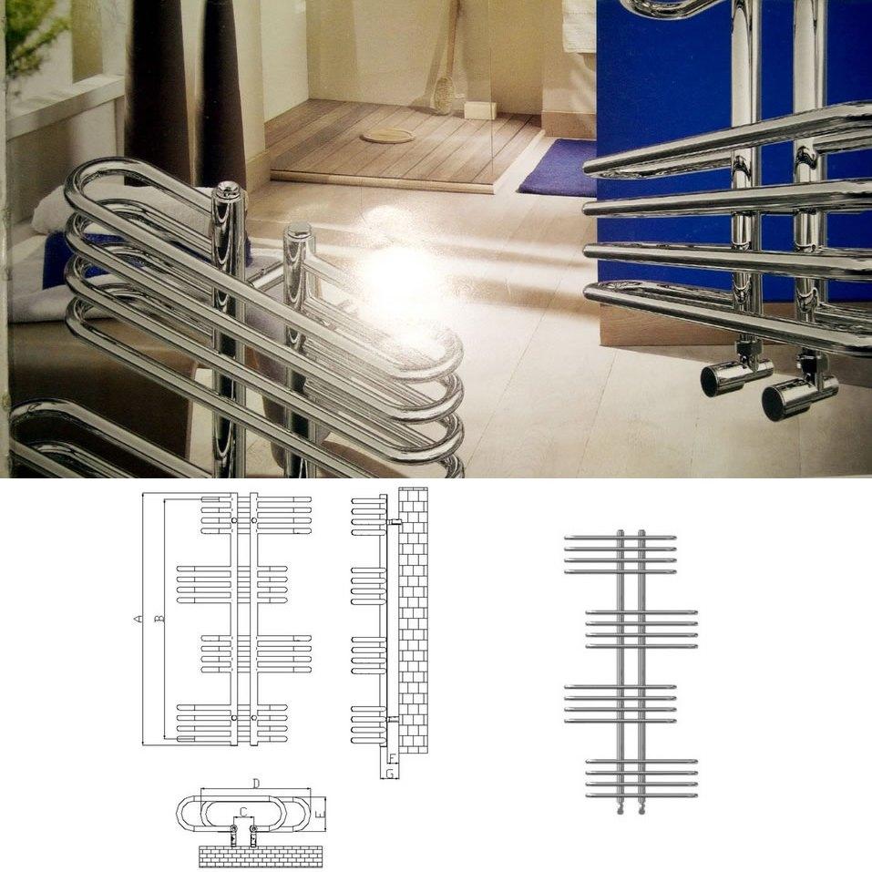 İmsan Zebro Krom Çelik Dizayn Havlu Kurutucu