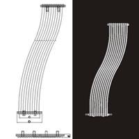 İmsan L-Fold Krom Çelik Dizayn Radyatör