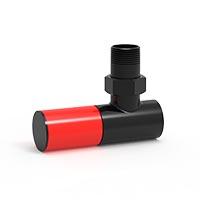 İmsan Jet Siyah - Parlak Kırmızı Radyatör Vanası