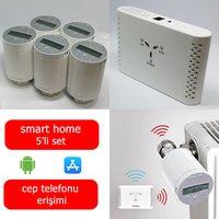 Saswell 5 Termostatik Vana Kafalı Akıllı Ev Isıtma Sistemi