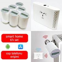 Saswell 6 Termostatik Vana Kafalı Akıllı Ev Isıtma Sistemi